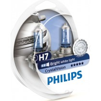 Λάμπες PHILIPS H11 Crystal Vision 12V 55W 4300K 2τμχ