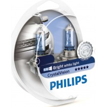 Λάμπες PHILIPS H4 Crystal Vision 12V 60/55W 4300K 2τμχ