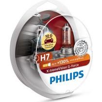 Λάμπες PHILIPS H7 12V 55W  G-Force 10G αντοχή +130% περισσότερο φως σετ 2τμχ