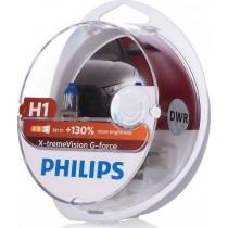 Λάμπες PHILIPS H1 12V 55W  G-Force 10G αντοχή +130% περισσότερο φως σετ 2τμ