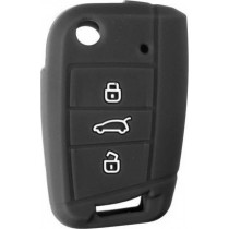 Θήκη Κλειδιών Σιλικόνης Vw - Skoda - Seat Type-2 Μαύρο 1τμχ