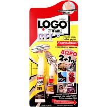 Κόλλα gel Logo στιγμής 2gr + 1gr δώρο