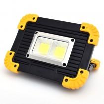 Προβολέας 20W COB Bright Working Light LED με 2 Επαναφορτιζόμενες Μπαταρίες Λιθίου 18650 (LL-812) και καλώδιο Micro USB