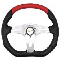 Τιμόνι Αυτοκινήτου Τύπου Issota 35cm Μαύρο Κόκκινο
