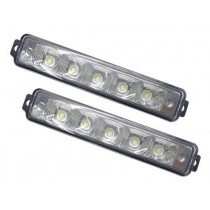 Σετ Drl Φώτα Ημέρας High Quality 12V6000K 2X8Watt-19Cm X 4,5Cm X 3Cm