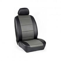 Κάλυμμα Δερματίνη D Καθισμάτων Μαρκέ Μαύρο-Γκρί