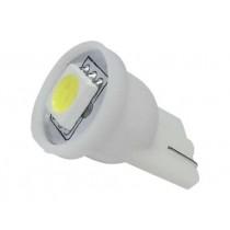 Λάμπα Led T10 Απλός Με 1 Smd 5050 1Τμχ - Ψυχρό Λευκό
