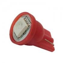 Λάμπα Led T10 Απλός Με 1 Smd 5050 1Τμχ - Κόκκινο