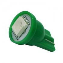 Λάμπα Led T10 Απλός Με 1 Smd 5050 1Τμχ - Πράσινο