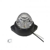 Led Πλευρικά Φώτα Όγκου Φορτηγών Bullet Ip66 6Smd 24V 1Τμχ - Ψυχρό Λευκό