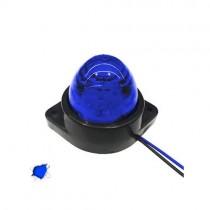Led Πλευρικά Φώτα Όγκου Φορτηγών Bullet Ip66 6Smd 24V 1Τμχ - Μπλε