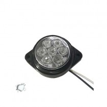 Led Πλευρικά Φώτα Όγκου Φορτηγών Bullet Ip66 7Smd 24V 1Τμχ - Ψυχρό Λευκό