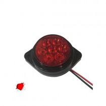 Led Πλευρικά Φώτα Όγκου Φορτηγών Bullet Ip66 7Smd 24V 1Τμχ - Κόκκινο
