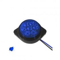Led Πλευρικά Φώτα Όγκου Φορτηγών Bullet Ip66 7Smd 24V 1Τμχ - Μπλε