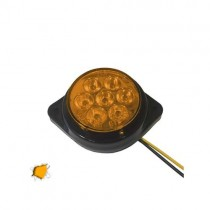 Led Πλευρικά Φώτα Όγκου Φορτηγών Bullet Ip66 7Smd 24V 1Τμχ - Πορτοκαλί