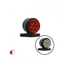 Led Set Στρογγυλά Πλευρικά Φώτα Όγκου Φορτηγών Ip66 10Smd 24 Volt 1Τμχ