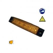 Led Φώτα Όγκου Φορτηγών Ip66 1Τμχ - Πορτοκαλί