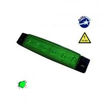 Led Φώτα Όγκου Φορτηγών Ip66 1Τμχ - Πράσινο