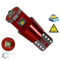 Λάμπα LED T10 Can Bus με 3 CREE LED 12v 6000k GloboStar 04477