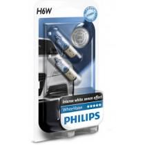 Λάμπες PHILIPS H6W White Vision 12V 4300K
