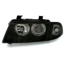 Φανάρια Εμπρός Μαύρα Angel Eyes για Audi A4 (1995-1998)