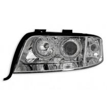 Φανάρια εμπρός Angel Eyes χρωμίου για Audi A6 (1997-2001)