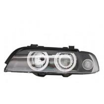 Φανάρια εμπρός μαύρα Angel Eyes  για BMW E39 (1995-2000)