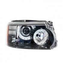 Φανάρια εμπρός Led Angel Eyes μαύρα για Land Rover /Range Rover Sport (2009+)