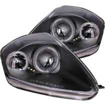 Φανάρια εμπρός Angel Eyes μαύρα για Mitsubishi Eclipse (2000-2005)