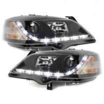 Φανάρια εμπρός Led μαύρα για Opel Astra G (1998-2004)