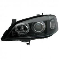 Φανάρια εμπρός Angel Eyes μαύρα για Opel Astra G (1998-2004)