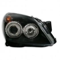 Φανάρια εμπρός Angel Eyes μαύρα για Opel Astra H (2004-2009)