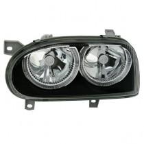 Φανάρια εμπρός Angel Eyes μαύρα για VW Golf 3 R32 Design