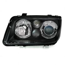Φανάρια εμπρός Angel Eyes μαύρα για VW Bora