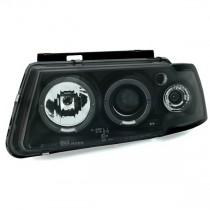 Φανάρια εμπρός Angel Eyes μαύρα για VW Passat 3Β/B5 (1997-2000)