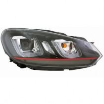 Φανάρια εμπρός Angel Eyes για VW Golf 6  με design VW Golf 7