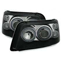 Φανάρια εμπρός Angel Eyes  μαύρα για VW Transporter T5 (2003-2009)