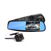 Κάμερα Καταγραφής Δρόμου Καθρέπτης Oem 2 Κάμερες Hd