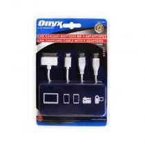 Φορτιστής Usb Τετραπλό Καλώδιο Onyx