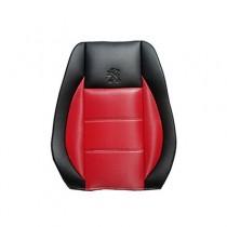 Κάλυμμα Δερματίνη Carbon Καθισμάτων Μαρκέ Μαύρο-Κόκκινο