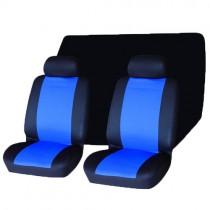 Κάλυμμα Σετ 6τμχ Υφασμάτινο Autoline House Auto 2 Χρώματα Μάυρο-Μπλε