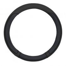 Κάλυμμα Τιμονιού Δερματίνη Moxi 38cm Μαύρο