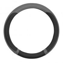 Κάλυμμα Τιμονιού Δερματίνη Moxi 38cm Μαύρο Γκρι