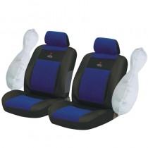 Κάλυμμα Υφασμάτινο Autoline Xdc Μπροστινά Μαύρο-Μπλε 2Τμχ