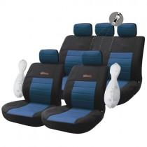 Κάλυμμα Υφασμάτινο Autoline Wrc Σετ 9τμχ Μαύρο-Μπλε