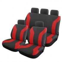 Κάλυμμα Υφασμάτινο Autoline Champion Σετ Μαύρο-Κόκκινο