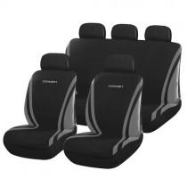 Κάλυμμα Σετ Υφασμάτινο Autoline Concept 3 Χρώματα Μαύρο-Γκρι