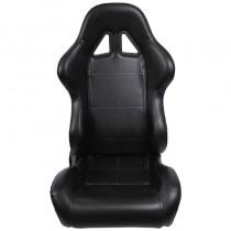 Κάθισμα Ανακλινόμενο Bucket Δερματίνη Μαύρο 1Τμχ