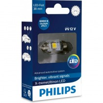 Λάμπα Philips Festoon X-Treme Ultinon Led 38mm 6000K 12V 1W 1τμχ
