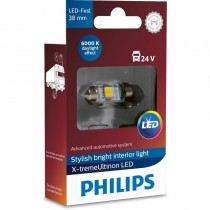 Λάμπα Philips Festoon X-Treme Ultinon Led 38mm 6000K 24V 1W 1τμχ